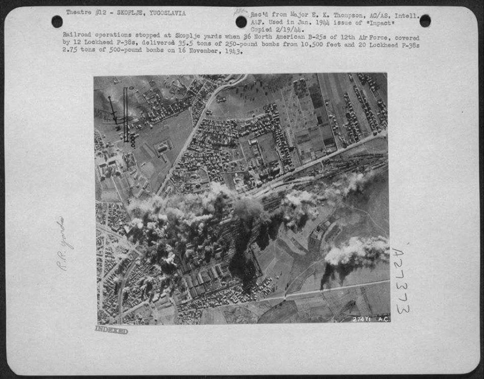 1. авионска снимка од бомбардиранјето